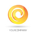 Modern logo design d rendered vector fully editable easy color change Stock Photography