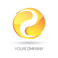 Modern logo design d rendered vector fully editable easy color change Royalty Free Stock Photo