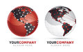 Modern logo design of in two color variattions Stock Photos