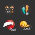 Modern Logo Set. Global Network Business Company Marketing Symbol Web Template. Logo Vector Elements Pack. Brand Icon Design Royalty Free Stock Photo