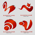 Modern logos set of four design Royalty Free Stock Photos