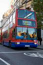 Modern London bus Stock Images
