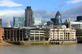 Modern london city office skyline by river thames circa october of offices in business district along the business district is Royalty Free Stock Photo