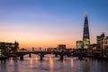 Modern London skyline Royalty Free Stock Photo