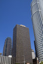 Modern Los Angeles Downtown Buildings Cityscape Stock Images