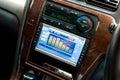 Modern luxury car interior Royalty Free Stock Photo