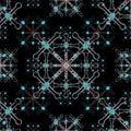 Modern Luxury Galaxy Ornate Seamless Mosaic Pattern