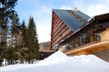 Modern luxury hotel at ski resort