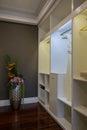 Modern luxury interior home design bedroom cabinet villa decoration Royalty Free Stock Photos