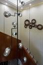 Modern  luxury interior home design villa stairs Royalty Free Stock Photo