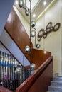 Modern  luxury interior home design villa stairs decoration Royalty Free Stock Photo