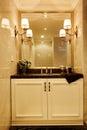 Modern luxury washroom bathroom Royalty Free Stock Photo