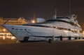Modern luxury yacht night Stock Image