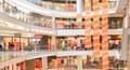 Modern mall panoramic view of a Royalty Free Stock Image