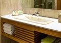 Modern Marble Wash Hand Basin Royalty Free Stock Photo