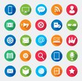 Modern media design elements colorful flat web icons Royalty Free Stock Photo