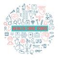 Modern medical icon set. illustrator.