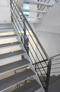 Modern metal staircase Royalty Free Stock Photo