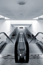 Modern metro station architecture perspective detail Royalty Free Stock Photo