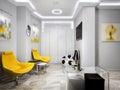 Modern Minimalism High-tech Reception Waiting Room Children`s Pl