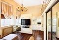 Modern minimalism living-room interior with TV