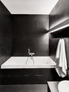 Modern minimalism style bathroom interior Royalty Free Stock Photo