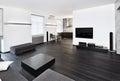 Modern minimalism style studio interior Stock Images