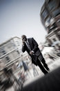 Modern Mobile Business Man Stock Image