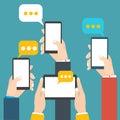 Modern mobile messenger vector illustration stock