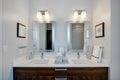 Modern modern bathroom at hotel resort Royalty Free Stock Photo