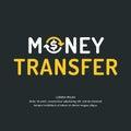 Modern money transfer logo and emblem.