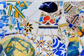 Modern mosaic in Guell park Gaudi Royalty Free Stock Photo