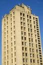 Modern multi-storey yellow big house Royalty Free Stock Photo
