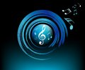Modern music symbols with brushes high quality vector blue notes Royalty Free Stock Photos