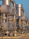 Modern natural gas processing plant Royalty Free Stock Photography