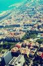 Modern neighbourhoods of Barcelona in Spain, aerial view Royalty Free Stock Photo