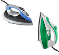 Modern new two electric irons Royalty Free Stock Photo