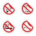 Modern No Smoking Symbols Royalty Free Stock Photo