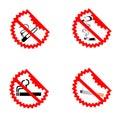 Modern No Smoking Symbols Royalty Free Stock Photo