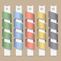 Modern numbered colored ribbons-banners Royalty Free Stock Photo