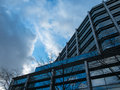 Modern office block and sky No.2 Royalty Free Stock Photo