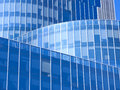 Modern office building blue glass facade futuristic Royalty Free Stock Photography