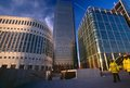Modern office building, Canary Wharf Stock Images