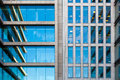 Modern office building detail with transparent glass wall Stock Photo
