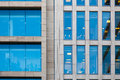 Modern office building detail with transparent glass wall Stock Photography