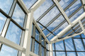 Glass roof of a modern office building Royalty Free Stock Photo
