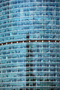 Modern office building glass wall front view close-up Royalty Free Stock Photo