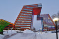 Modern office building in novosibirsk russia december of information technology center akademgorodok the completed become one of Stock Images