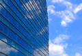 Modern office building and sky reflection Royalty Free Stock Photo