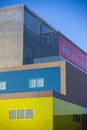 Modern office buildings colorful buildings in a industrial place building colour Royalty Free Stock Image